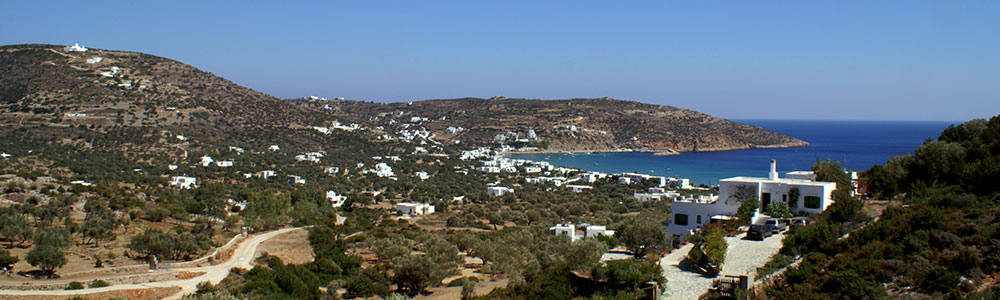 The view from Villa Tsioni studios in Sifnos
